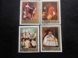Serie timbre pictura VELASQUEZ stampilate Manama timbre arta timbre picturi