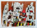 Harry Guttman - Peisaj urban, lucrare deosebita, semnata