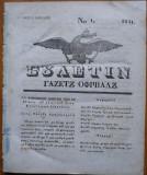 Ziarul Buletin , gazeta oficiala a Principatului Valahiei , nr. 1 , 1841