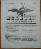 Ziarul Buletin , gazeta oficiala a Principatului Valahiei , nr. 7 , 1841