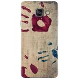 Husa silicon pentru Samsung Galaxy A7 2016, Handprints