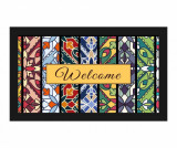 Covoras de intrare Welcome Floral 45x75 cm