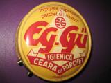 Cutie metalica veche EG-Guban Timisoara 2 ceara parchet.
