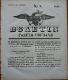 Ziarul Buletin , gazeta oficiala a Principatului Valahiei , nr. 5 , 1841