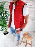 Vesta rosie - PREMIUM - vesta fas - vesta barbati - COLECTIE NOUA - A2230 N6-2, L, M, Din imagine, Sport