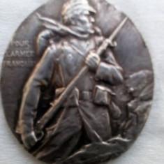 Medalion al Comitetului festivităților caritabile din Dijon 1914-1915 , argint