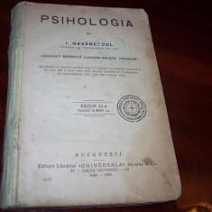 I.Gavanescul  -  PSIHOLOGIA  { 1929 - 1930 }   *