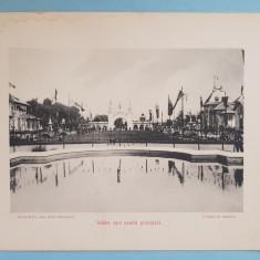 Expozitia 1906 Bucuresti - Vedere spre Poarta Principala - 17x13 cm
