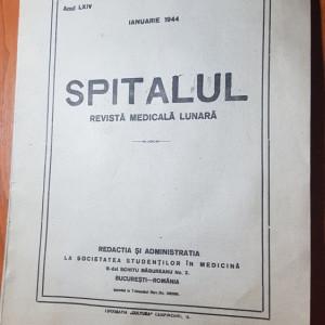 revista spitalul ianuarie 1944-revista medicala lunara