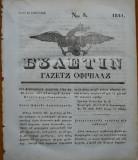 Ziarul Buletin , gazeta oficiala a Principatului Valahiei , nr. 3 , 1841
