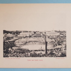 Expozitia 1906 Bucuresti - Vedere spre luptele navale - 17x13 cm