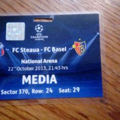 Acreditare meci de fotbal Steaua - FC Basel 22 octombrie 2013