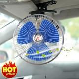Ventilator auto Carpoint 12V cu rama metalica , oscilant ,diametru 14 cm, 6 luni+, Multicolor