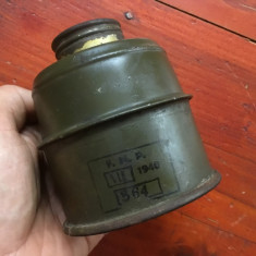 Vechi Filtru pentru masca de gaze perioada WWII !