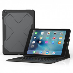 Husa cu tastatura ZAGG Rugged Messenger Folio Bluetooth Apple iPad 2017 / iPad 2018