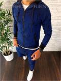 Trening barbati albastru PREMIUM - Bluza + Pantaloni - COLECTIE NOUA - A2244, L, M, S, XL, Nocciola