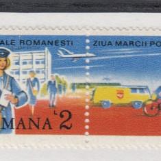 ROMANIA 1987 LP 1190  ZIUA  MARCII  POSTALE  ROMANESTI  MNH