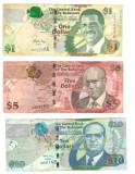 SV * Bahamas  LOT  1 DOLLAR 2008 + 5 DOLLARS 2007 + 10 DOLLARS 2009     +/- VF