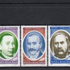 ROMANIA 1991  LP 1270  ANIVERSARI  COMEMORARI  PERSONALITATI   SERIE  MNH, Nestampilat