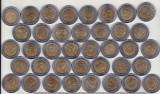 bnk mnd Mexic lot 37 monede comemorative 5 $ bimetal unc