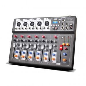 MIXER AUDIO PROFESIONAL 7 CANALE,MP3 PLAYER USB,AFISAJ,EFECTE VOCE,SIGILAT.