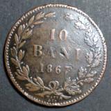 10 bani 1867 4 Watt Co