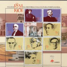 PORTUGALIA 2001, Personalitati, MNH, Nestampilat