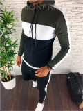 Trening barbati negru cu kaki PREMIUM - Bluza + Pantaloni - A2251, L, M, S, XL, Nocciola