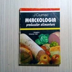 MERCEOLOGIA Produselor ALIMENTARE - J. Ciumac - Chisinau, 1995, 166 p., Alta editura, Eugene Sue