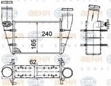 Intercooler, compresor VW PASSAT Variant 1.9 TDI - BEHR HELLA SERVICE 8ML 376 727-581