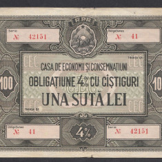 Bon Obligatiune CEC 100 lei 1