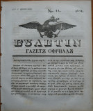 Ziarul Buletin , gazeta oficiala a Principatului Valahiei , nr. 11 , 1841