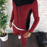 Trening barbati grena PREMIUM - Bluza + Pantaloni - COLECTIE NOUA - A1103 B9-2, L, XL, Din imagine