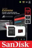Card de memorie SanDisk Extreme, 128GB, pana la 100 MB/s