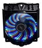 Cooler CPU Enermax ETS-T50A-BVT T.B. Apollish Advance, Iluminare 36 LED-uri multicolore (Negru)