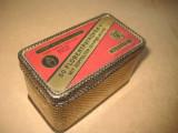 Cutie veche metalica munitie Flobert Patronen Alfred Nobel-Co.