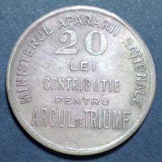 A4431 Jeton 20 lei contributie pentru Arcul de Triumf
