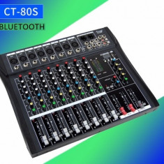MIXER AUDIO PROFESIONAL 8 CANALE,EFECTE VOCE,AFISAJ,MP3 PLAYER USB SI BLUETOOTH.