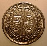 2.457 GERMANIA WEIMAR 50 REICHSPFENNIG 1931 A, Europa, Nichel