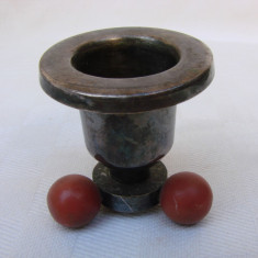 Sfesnic argintat in miniatura - perioada Art Deco, anii 1920