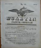 Ziarul Buletin , gazeta oficiala a Principatului Valahiei , nr. 17 , 1841