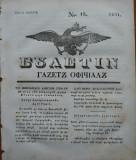 Ziarul Buletin , gazeta oficiala a Principatului Valahiei , nr. 13 , 1841