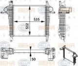 Intercooler, compresor MAN TGL 8.210 FC, FRC, FLC, FLRC - HELLA 8ML 376 728-701