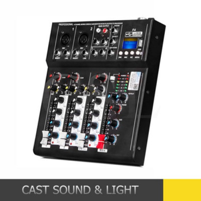MIXER AUDIO 4 CANALE,EFECTE VOCE,MP3 PLAYER USB,MIXER ULTIMA GENERATIE.SIGILAT! foto