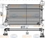 Intercooler, compresor VW PASSAT limuzina 1.9 TDI - BEHR HELLA SERVICE 8ML 376 746-131