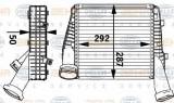 Intercooler, compresor PORSCHE CAYENNE 3.0 Diesel - HELLA 8ML 376 729-561