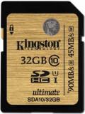Card memorie Kingston SDHC UHS-I Ultimate 32GB, Clasa 10