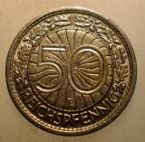 2.451 GERMANIA WEIMAR 50 REICHSPFENNIG 1928 E, Europa, Nichel