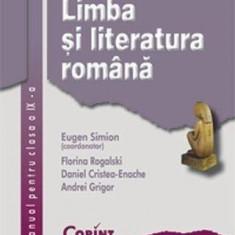 Limba si literatura romana. Manual pentru clasa a IX-a, corint