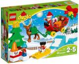 LEGO® DUPLO® Vacanta de Iarna cu Mos Craciun 10837